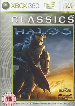 Halo 3 Classic Xbox 360 Cover Art