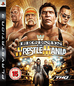 WWE Legends of Wrestlemania PlayStation 3 Cover Art