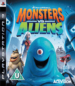 Monsters vs Aliens PlayStation 3 Cover Art