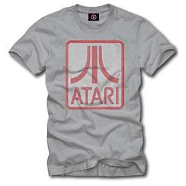 Atari Block T-Shirt - Grey Medium Clothing and Merchandise