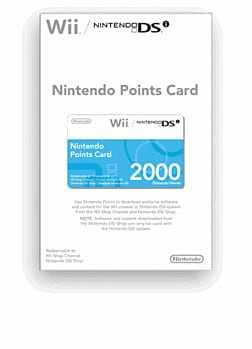 Nintendo Points Card for Wii and DSi - 2000 Points Accessories 