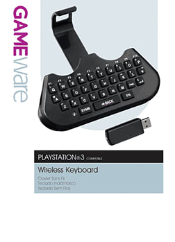 GameWare Wireless Keyboard for PS3 Accessories