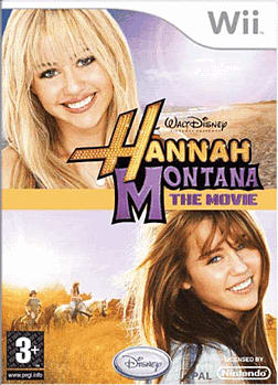 Hannah Montana: The Movie Game Wii Cover Art
