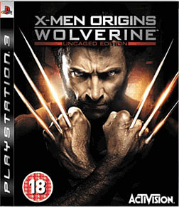 X-Men Origins: Wolverine Uncaged Edition PlayStation 3 Cover Art