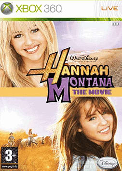 Hannah Montana: The Movie Game Xbox 360 Cover Art