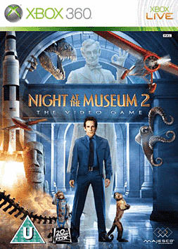 Night at the Museum 2 Xbox 360 Cover Art