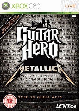 Guitar Hero: Metallica (Guitar Bundle) Xbox 360 Cover Art