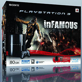 Sony PlayStation 3 80GB Console with Infamous PlayStation 3