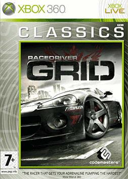 Race Driver: GRID Classic Edition Xbox 360 Cover Art