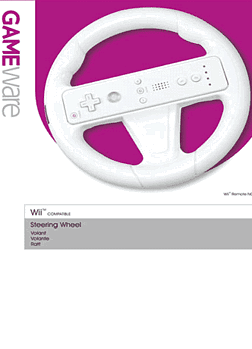 GAMEware White Wheel for Wii Accessories 