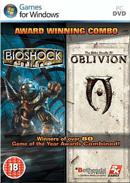 Oblivion and BioShock Double Pack PC Games and Downloads Cover Art