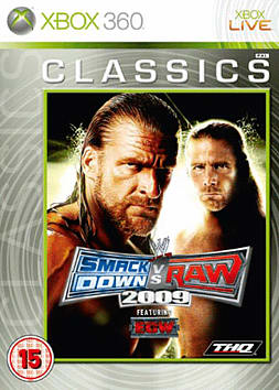 WWE Smackdown VS Raw 2009 Classic Xbox 360 Cover Art