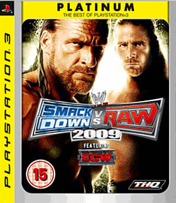 WWE Smackdown vs Raw 2009 Platinum PlayStation 3 Cover Art