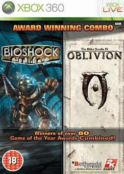 Oblivion and BioShock Double Pack Xbox 360 Cover Art