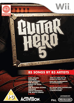 Guitar Hero 5 (Software Only) Wii Cover Art