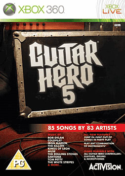 Guitar Hero 5 (Software Only) Xbox 360 Cover Art