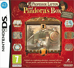 Professor Layton and Pandora's Box DSi and DS Lite Cover Art