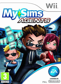 MySims Agents Wii Cover Art