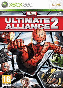 Marvel Ultimate Alliance 2 Xbox 360 Cover Art