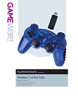 PS3 Wireless Control Pad (translucent blue) Accessories