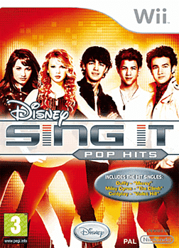 Disney Sing It: Pop Hits (with Microphone) Wii Cover Art