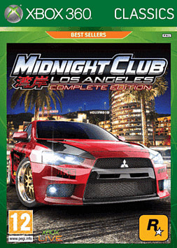 Midnight Club Los Angeles Classic Xbox 360 Cover Art