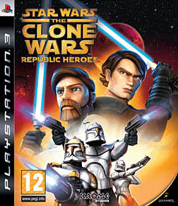 Star Wars: The Clone Wars Republic Heroes PlayStation 3 Cover Art