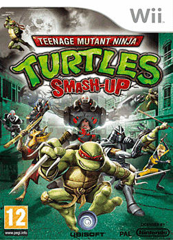 TMNT Smash Up Wii Cover Art