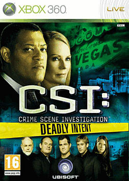 CSI Deadly Intent Xbox 360 Cover Art