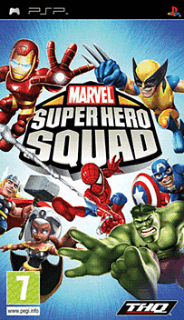 Marvel Superhero Squad PSP Cover Art