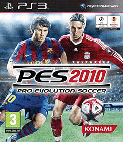 Pro Evolution Soccer 2010 PlayStation 3 Cover Art