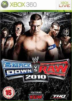 WWE SmackDown vs Raw 2010 Xbox 360 Cover Art