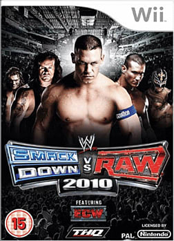 WWE SmackDown vs Raw 2010 Wii Cover Art