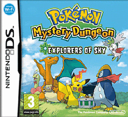 Pokemon Mystery Dungeon: Explorers of Sky DSi and DS Lite Cover Art