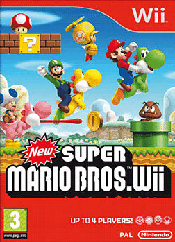 New Super Mario Bros Wii Cover Art