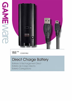 GAMEware Black Rechargeable Battery Pack for Wii Accessories