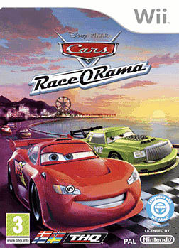 Cars Race-O-Rama Wii Cover Art