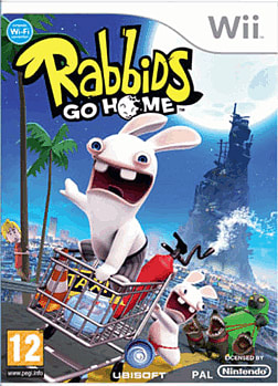 Rabbids Go Home Wii Cover Art
