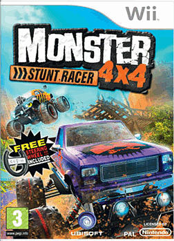 Monster 4x4 Stunt Race and Wheel Bundle Wii Cover Art