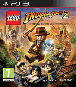 LEGO Indiana Jones 2: The Adventure Continues PlayStation 3 Cover Art