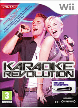 Karaoke Revolution with Microphone Wii Cover Art