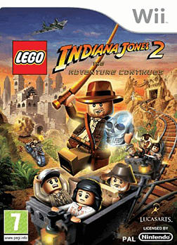 LEGO Indiana Jones 2: The Adventure Continues Wii Cover Art