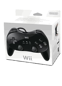 Black Wii Classic Controller Accessories