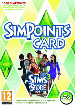 The Sims 3 1000 Store Points Accessories 