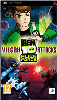 Ben 10 Alien Force Vilgax Attacks PSP Cover Art