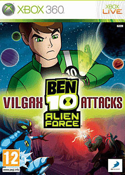 Ben 10 Alien Force Vilgax Attacks Xbox 360 Cover Art