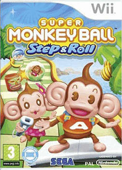 Super Monkey Ball: Step & Roll Wii Cover Art