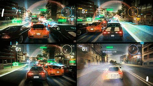 Splitscreen multiplayer racing  in Blur on Xbox 360, PlayStation 3 and PC at GAME