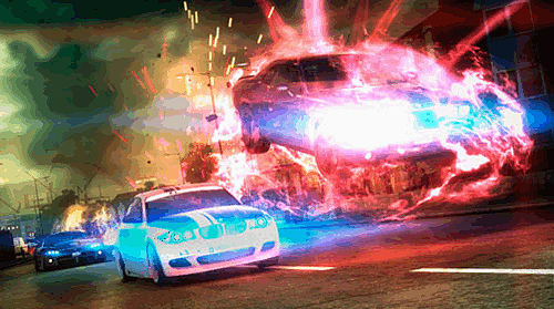 Powerful cars and racing attacks in Blur on Xbox 360, PlayStation 3 and PC at GAME