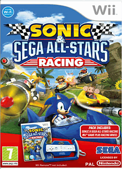 Sonic & SEGA All-Stars Racing (with Wheel) Wii Cover Art